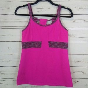 Athleta tank with built in bra size M